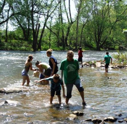Kids Collect River Samples