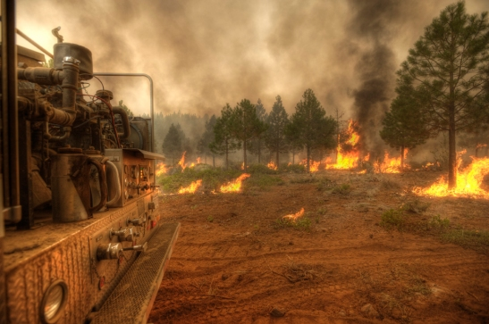 The Barry Point Fire, sparked by lightning, is located 22 miles southwest of Lakeview, OR on the Fremont-Winema National Forest and private lands. On August 15, at 6:00 a.m.