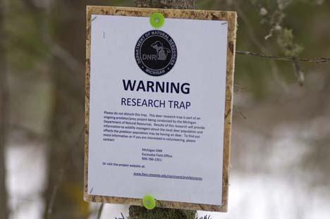 Deer Trap Sign