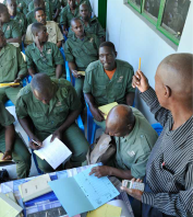 Game Guards at Salamba Conservancy in Zambezi Region participate in the annual event book audit-NASCO-WWF in Namibia 2015