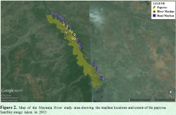 Map of Sitatunga study area 2 from 2015 Annual Report