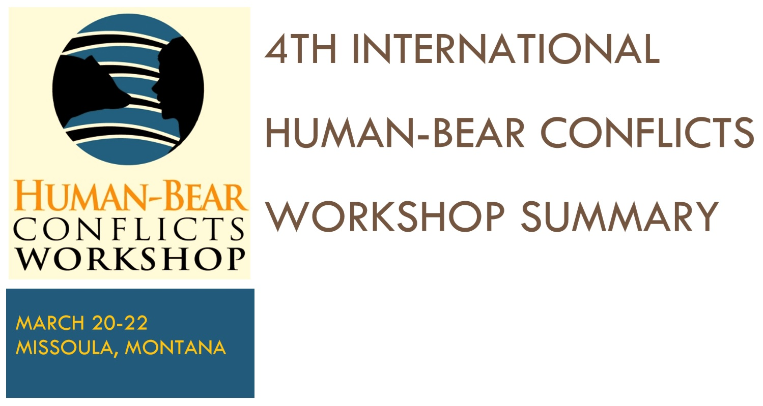 4th International Human-Bear Conflicts Workshop 2012