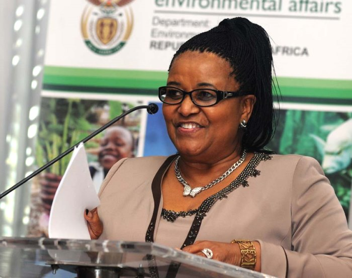 Minister-Molewa of South Africa. The Green Times.